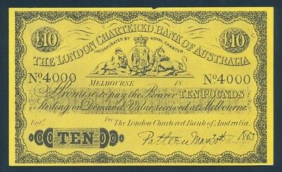 "London Bank of Australia 1853 ""COAT OF ARMS"" £10 Funny Money - See description"