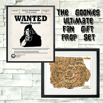 The Goonies Movie Prop Gift One Eyed Willy Treasure Map Mama Fratelli Wanted