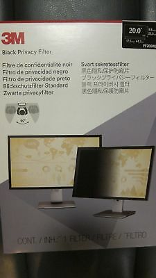 "New 3M Pf200W9B Black Privacy Filter 20"" Widescreen Privacy Filter"