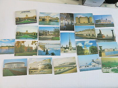 19 Mint Postcards in a Packet 'Leningrad Classic Architecture'
