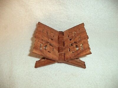 Small Hand Carved Wood Folding Book Stand India