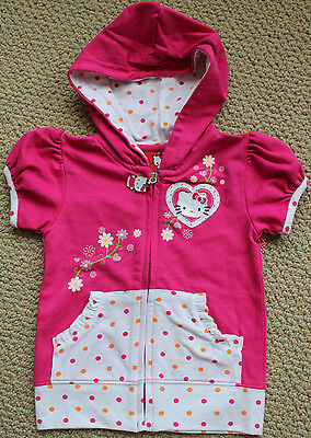Hello Kitty 4 4T Sanrio Zip Top Jacket  Girl's  Pink S/S FREE Ship NWT