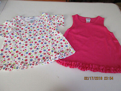 Nwot : Okie Dokie, Toddler Girl's Set Of Two Cotton Flutter Tee's [Size 4T]