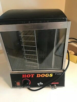 Star 35SXE Hot Dog Machine Hot Dog Steamer & Bun Warmer- WORKS