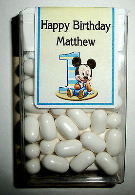 28 Baby Mickey Mouse 1St Birthday Party Favors Tic Tac Labels ~ Personalized