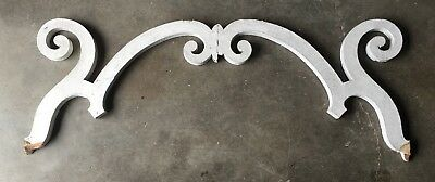 Antique Pr Large Wood Porch Corbels Spans Shabby Garden Old Architecture 418-18E