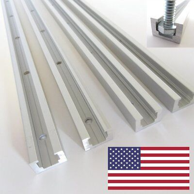 "14"" Aluminum T-Track, T-Slot, T-Tracks, Jig Clamp, Hold Down Channel Made In USA"