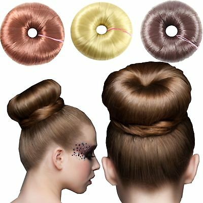 Molly & Rose Synthetic Hair Bun Ring Doughnut Updo Hairstyle Shaper Blonde Brown