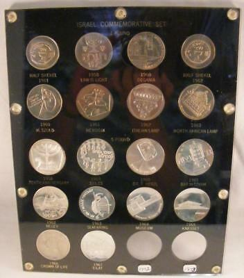 Silver Commemorative Coinage of Israel 1958-1967 - Uncirculated 18 Coin Set