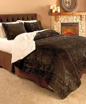 The Lakeside Collection 2-Pc.Twin Luxury Plush Reversible Comforter Set -