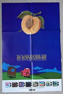 "ALLMAN BROS-""Sat Night In Macon,Ga"" Orig '73 PROMO 35""x23""-MINT-Capricorn"