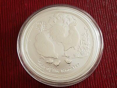 2017 2 OZ .9999 AG Lunar Year Of The Rooster $2 Silver Coin Perth Mint