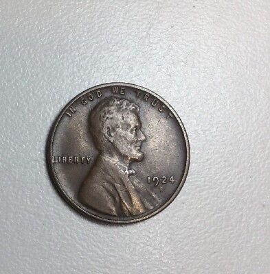 1924-D 1c Lincoln Wheat Penny Cent -- SUPER NICE CONDITION