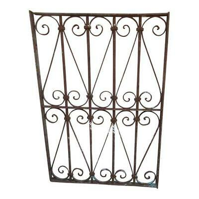 Antique Victorian Iron Gate Window Garden Fence Architectural Salvage Door #624