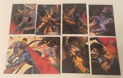 DC vs. Marvel Comics - Impact - Limited Edition Subset - 1995 Fleer (8/18 Cards)