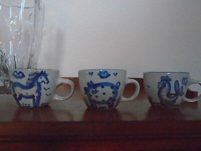 Ma Hadley 3 Piece Mug Lot (Horse-Pig-Rooster)