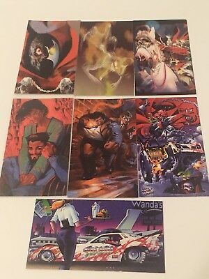 1995 Wildstorm Spawn Widevision - Painted (7/12 Cards) - (Rare)