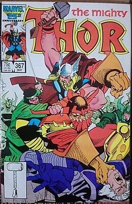 Mighty Thor # 367, Classic Simonson Run,high Grade Copy