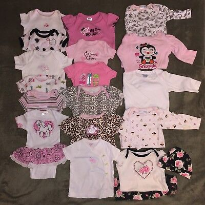 0-12 Months Baby Girls Clothing 42pc Mixed LOT