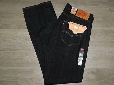 166385b9 Levis 501 Mens Jeans 38x34 Original Fit Straight Leg Button Fly Iconic Black  NWT