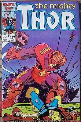 Mighty Thor # 377 , Classic Simonson Run High Grade Copy