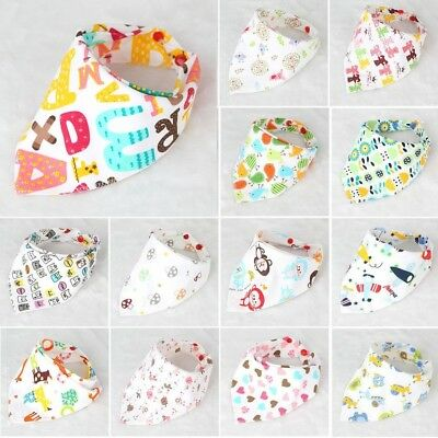Universal Baby Bibs Drool Triangle Bibs With Snaps For Drooling Feeding Baby