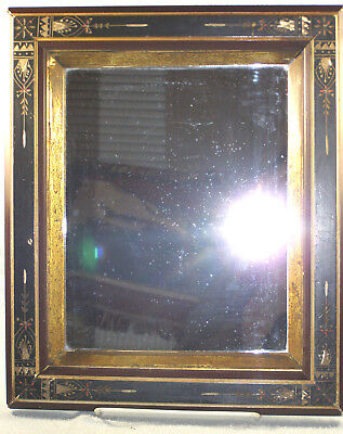 Antique 19thc Eastlake Picture Frame with Mirror