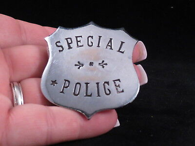 """Obsolete,""""Special Police"""" Badge,Shield,Maker Marked,S.G. Adams,St. Louis,MO."""