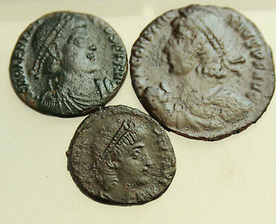 Lot of 3x  AE Roman Follis   D= 16-21mm
