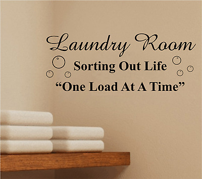 laundry washing utility room wall art stickers quotes text home