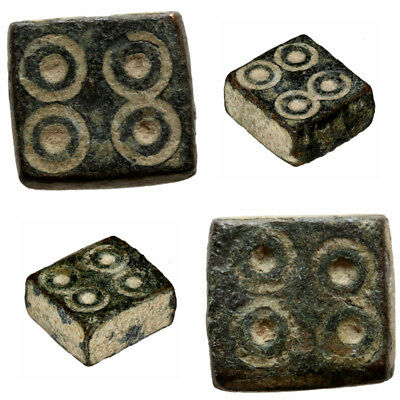 Museum quality Byzantine Square Bronze Weight 5.77 grams Circa 500-700 AD
