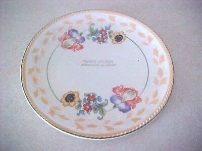 """Antique Plate Advertising """"line's Stores Huntingburg And Jasper"""" (Indiana)"""