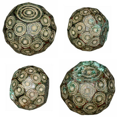Intact Byzantine Bronze Polygonal Weight Circa 500-700 AD 29.65 grams