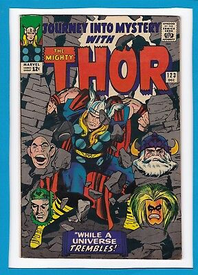 Journey Into Mystery #123_December 1965_F/vf_Mighty Thor_Absorbing Man!