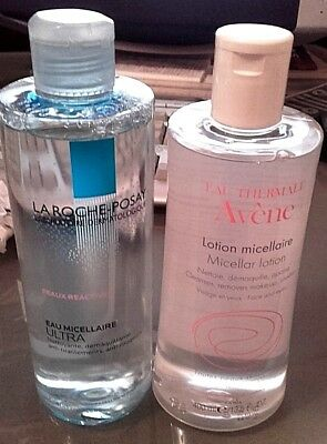 eau micellaire ultra  400 ml + AVENE  lotion micellaire 400 ml     NEUF !!