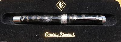 Conway Stewart Duro sterling fountain pen limited edition Black Sparkle