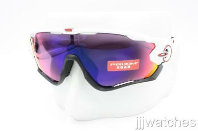 e4df64cfe05 New Oakley Jawbreaker Polished White PRIZM Road Sunglasses OO9270 04  213