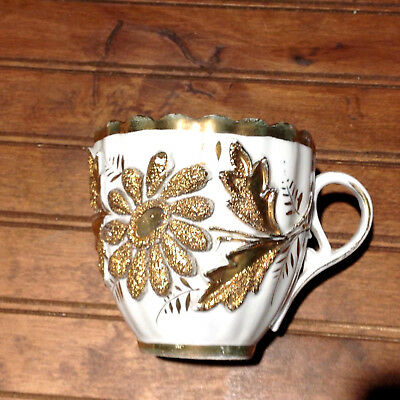 Ornate Antique Gilded Mustache Cup