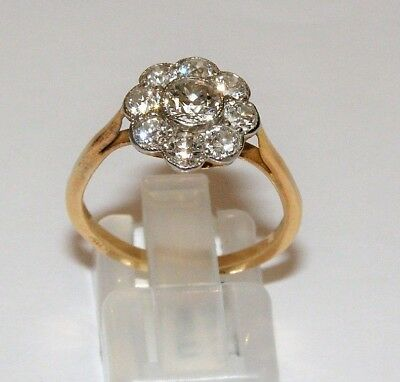 antique Goldring Diamant ct 1.30 Old-Time 1930 Gold Ring Diamond 1930s