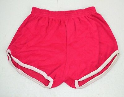 Vintage 1980's Women's Terry Cloth Short Shorts, Hot Pink Large
