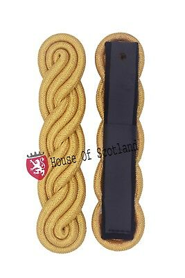 New Navy Military shoulder Board For Uniforme/Golden Army Dress Shoulder Boards