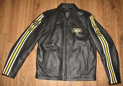 SKI-DOO 50th Anniversary 1959-2009 Men's Heavy Leather Jacket Bombardier Large