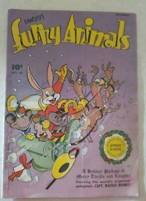 Golden Age! Funny Animals comic # 45, 1946,  Marvel Bunny!