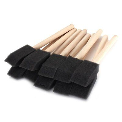 20 x 1 inch (25mm) in Sponge Brushes Wooden Handle Painting Drawing Art Cra T3V8