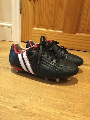 Boys Patrick Trainers Size 6 Rugby Boots Metal Studs Black Boots