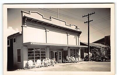 #12 USO CLUB at Paia Maui-Hawaii Photo Postcard RPPC WWII Minty