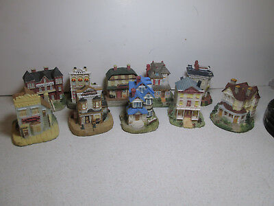 Lot 10 Vintage Liberty Falls Village The Americana Collection Buildings NO Boxes