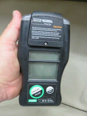 MSA orion multigas detector w/ nimh battery pack gas testing