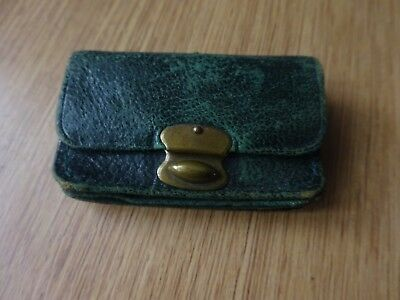 Lovely Old/vintage Small Leather Coin Purse