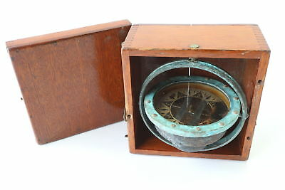 "Dirigo Eugene M. Sherman Antique 5"" Gimbaled Ships Autopilot Compass"